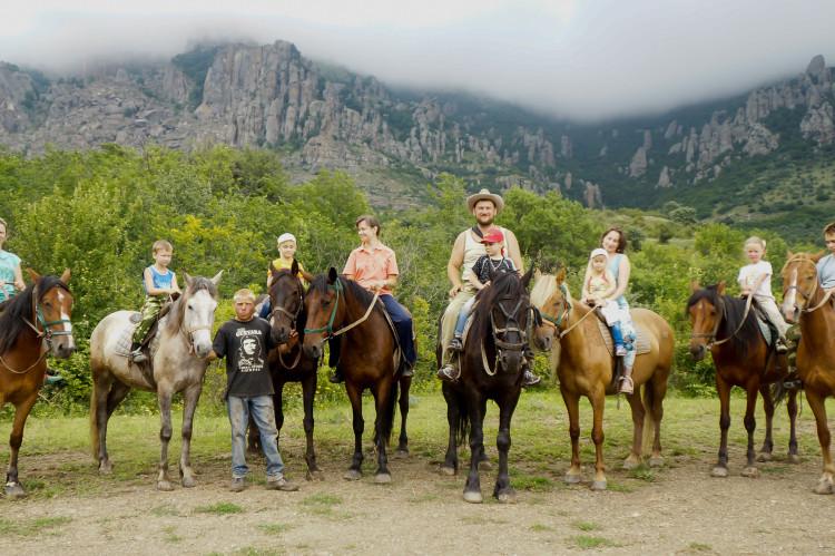 Конные прогулки по горам